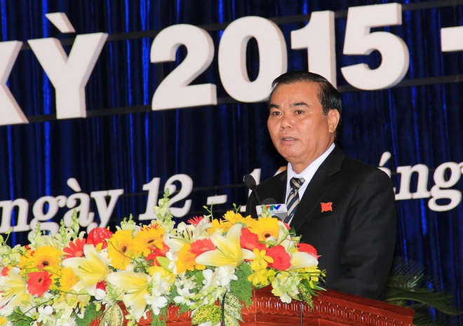 Ong Nguyen Ngoc Quang va Eban Y Phu tai dac cu bi thu tinh hinh anh 2 Êban Y Phu phát biểu tại đại hội. Ảnh: M. Q