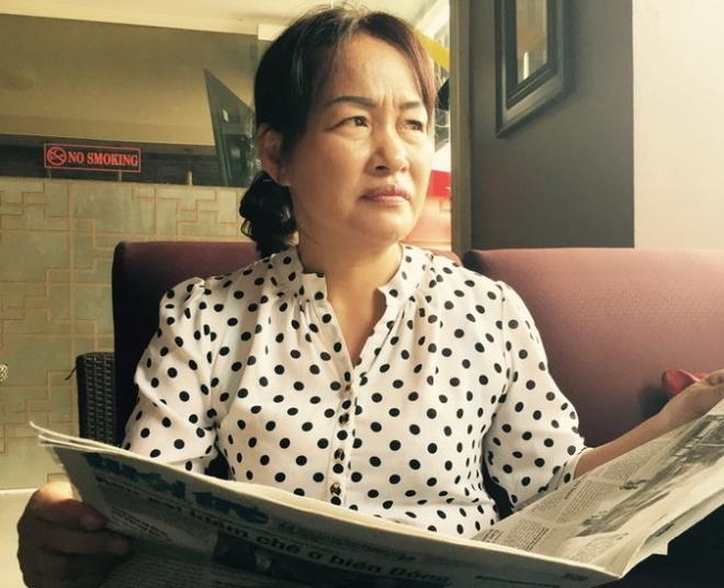 Se xu ly can bo bat oan ba Tran Thi Bup hinh anh 1 Bà Trần Thị Búp sau khi được tại ngoại vào tháng 3/2015.