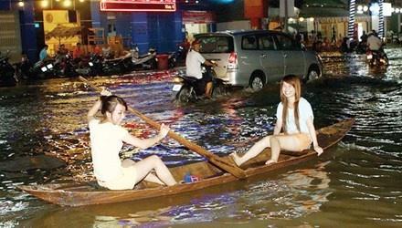 Nguy co tu de bao tran lan o Dong bang song Cuu Long hinh anh 1 Trung tâm thành phố Cần Thơ hiện nay hễ mưa lớn là ngập.