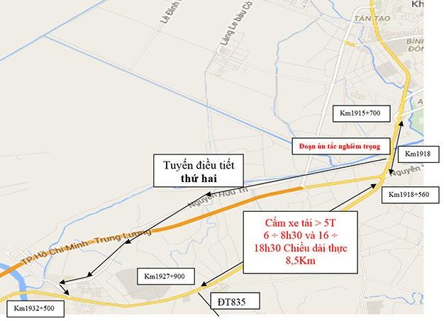 Tu 11/12 cam xe tai tren QL1 TP HCM, Long An va Tien Giang hinh anh 3
