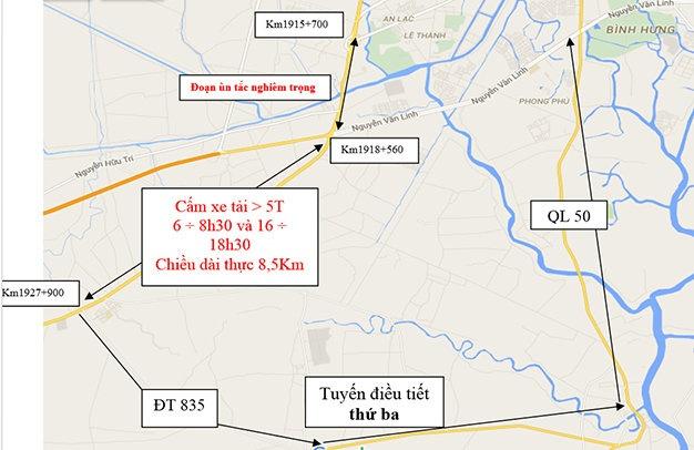 Tu 11/12 cam xe tai tren QL1 TP HCM, Long An va Tien Giang hinh anh 4
