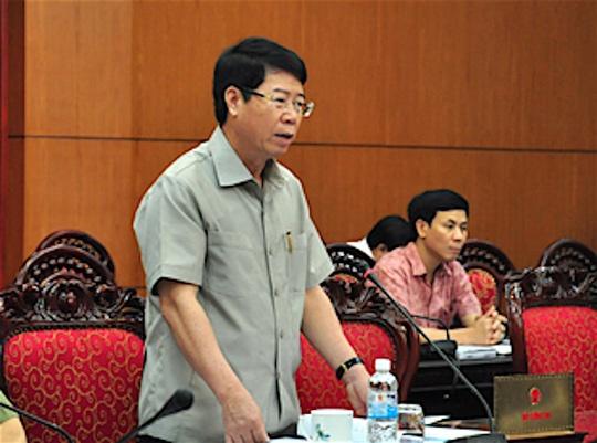 Bo Cong an de xuat hoan xin y kien QH ve Luat Bieu tinh hinh anh 1 Thượng tướng Bùi Văn Nam, Thứ trưởng Bộ Công an.