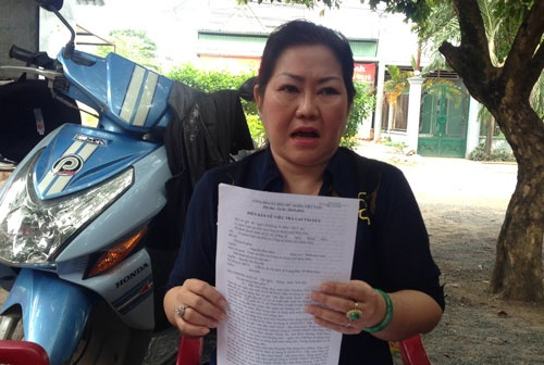 Doi Tan Hiep Phat boi thuong vi pha san, suyt vao tu hinh anh 1 Bà Thu Hà cho biết sẽ tiếp tục khiếu kiện công ty Tân Hiệp Phát đòi quyền lợi chính đáng của mình.