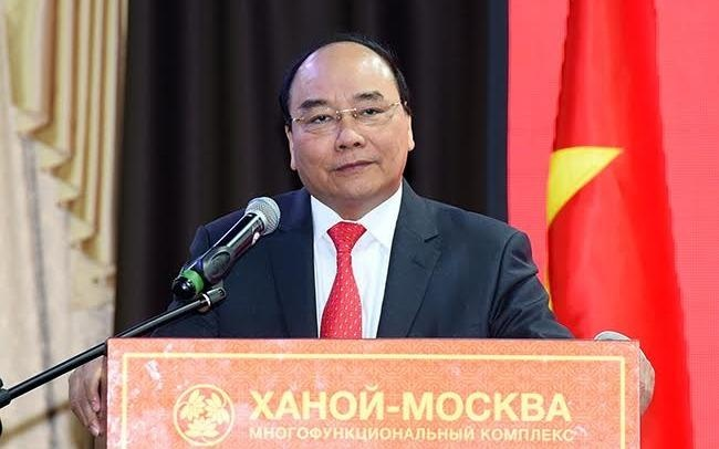 Thu tuong Nguyen Xuan Phuc gap go kieu bao Nga hinh anh