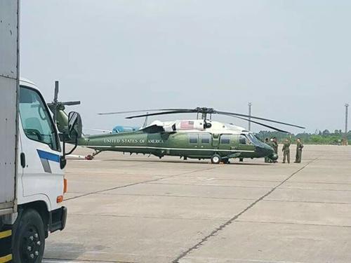 Truc thang Marine One cua Tong thong Obama den Noi Bai hinh anh 2