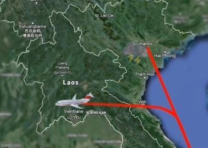 May bay di Ha Noi ha canh tai Lao hinh anh 1
