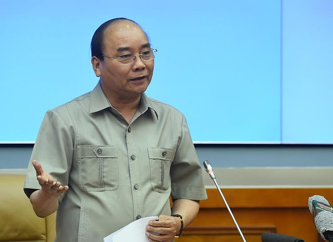 Thu tuong Nguyen Xuan Phuc lam viec voi Bo Quoc phong hinh anh 1