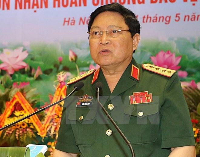 Dai tuong Ngo Xuan Lich gap Bo truong Quoc phong My hinh anh