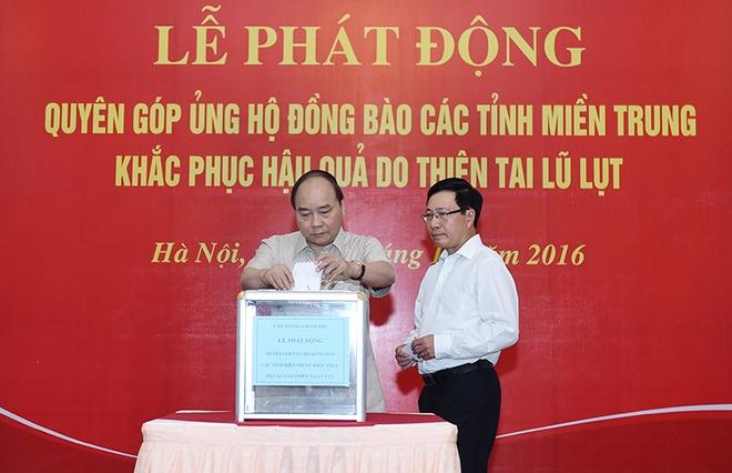 Thu tuong ung ho dong bao mien Trung hinh anh 1