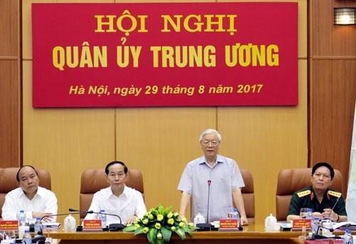 Tong bi thu chu tri Hoi nghi Quan uy Trung uong hinh anh