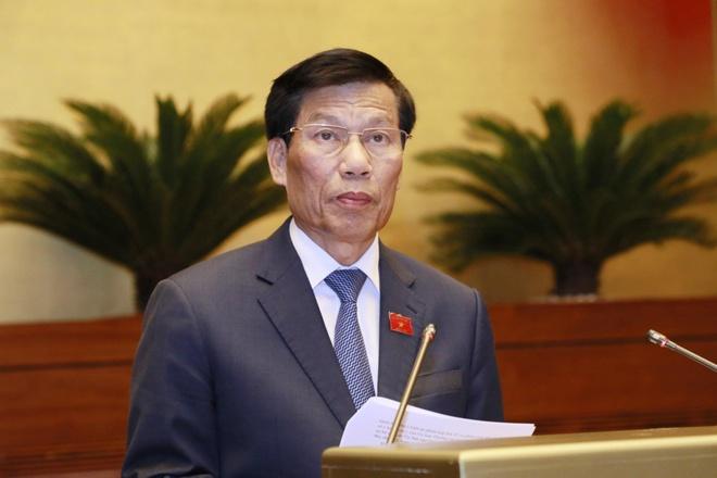 Bộ trưởng Nguyễn Ngọc Thiện trả lời chất vấn