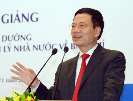 Bo truong Nguyen Manh Hung: Tin co kiem chung la manh dat cua bao chi hinh anh