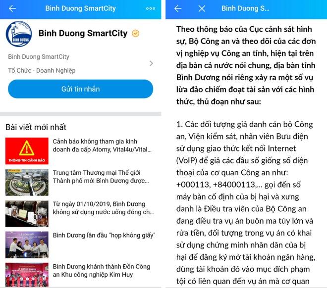 tan cong toi pham qua Zalo o Binh Duong anh 2