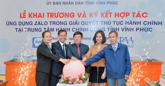 Dung Zalo trien khai hanh chinh cong 'khong giay to' tai Vinh Phuc hinh anh 1