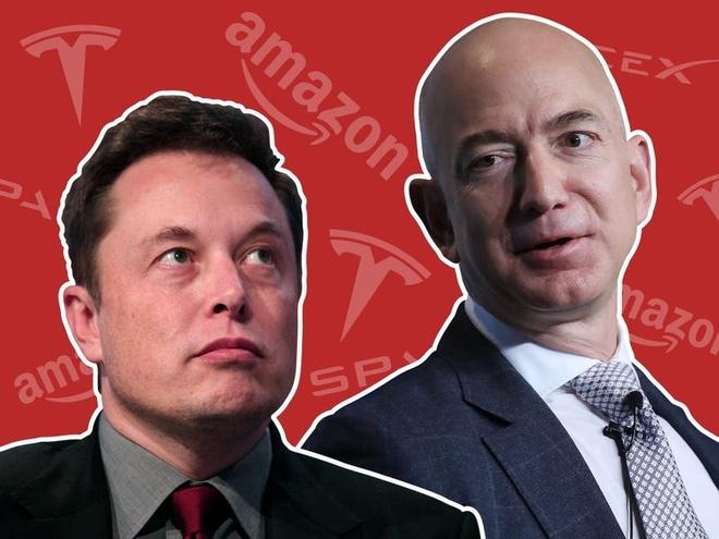 cuoc doi dau Elon Musk - Jeff Bezos anh 1