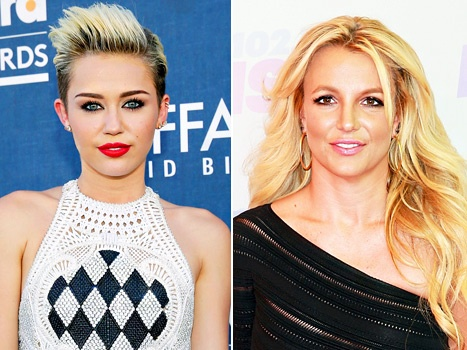 Miley Cyrus song ca cung Britney Spears hinh anh
