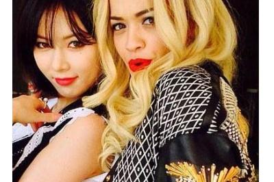 HyunA day Rita Ora nhay hinh anh