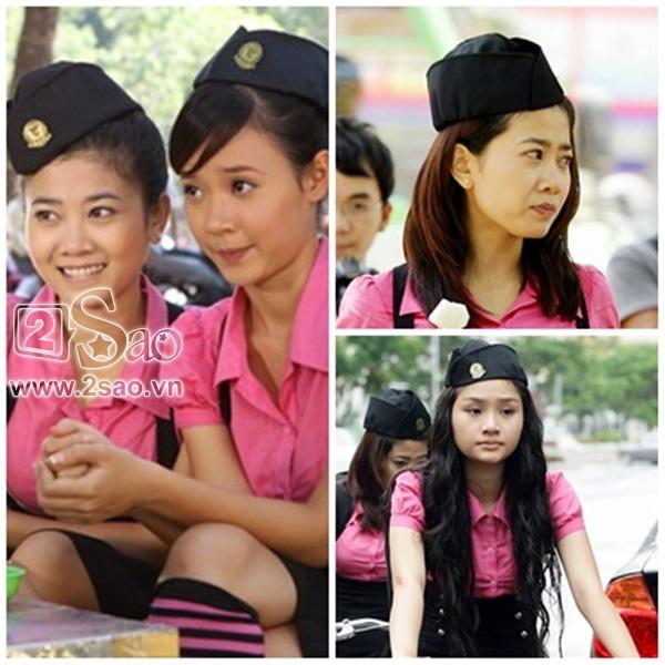 Đông Nhi, Angela Phương Trinh và Phương Hằng tinh nghịch trong phim Thứ 3 học trò.