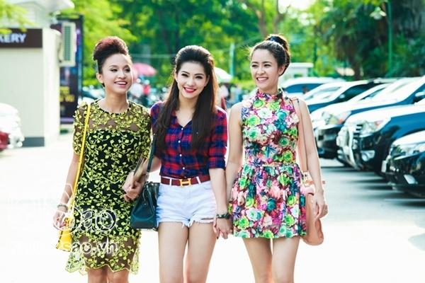 3 nữ diễn viên khả ái của Hà thành là Vân Hugo, Thùy Dương, Lưu Đê Ly để lại ấn tượng  với những vai diễn tinh tế trong phim Hoa nở trái mùa.