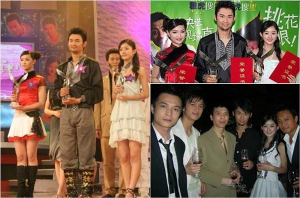 Năm 2006, Triệu Lệ Dĩnh tham gia cuộc thi Tìm kiếm ngôi sao và giành giải quán quân  trong đội của đạo diễn Phùng Tiểu Cương. Nhờ đó, cô được trao cơ hội đóng một  quảng cáo mà Phùng Tiểu Cương đạo diễn rồi về đầu quân cho công ty giải trí  Hoa Nghị Huynh Đệ.