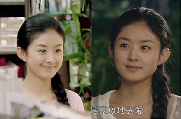 Triệu Lệ Dĩnh chân chất trong bộ phim truyền hình Tân Ngọc Quan Âm.