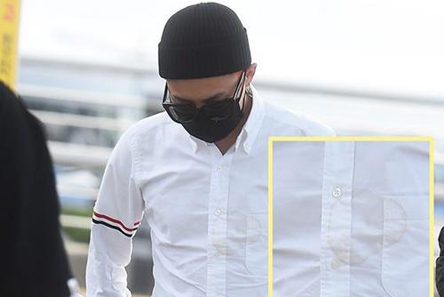 G-Dragon mac ao o vang ra duong hinh anh