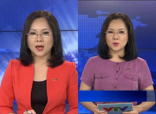 BTV Cẩm Nhung ghi điểm với chiếc váy thiết kế đẹp mắt màu vintage. Tuy  nhiên, với chiếc áo vest không có cổ áo khiến cho bộ trang phục trở nên hơi  ...