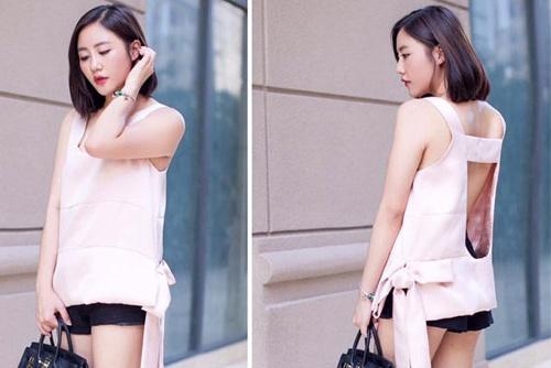Street style cuc chat cua Van Mai Huong hinh anh