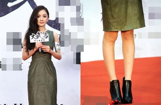Đôi chân cũng là khuyết điểm khiến thân hình Dương Mịch không thể hoàn hảo.