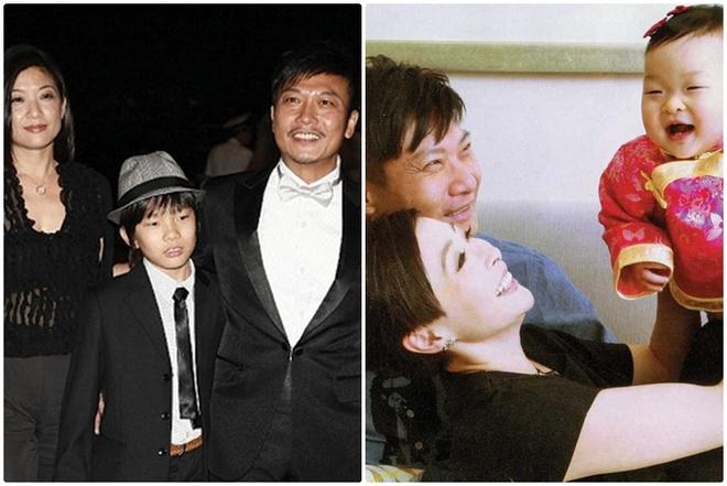 8 dien vien TVB co vo cong thuc thu hinh anh 7 Gia đình hiện tại của Tiền Tiểu Hào (bên trái) và em trai Tiền Gia Lạc (phải)