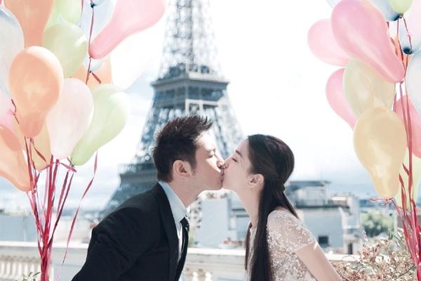 Anh cuoi cua Huynh Hieu Minh va Angelababy tai Paris hinh anh