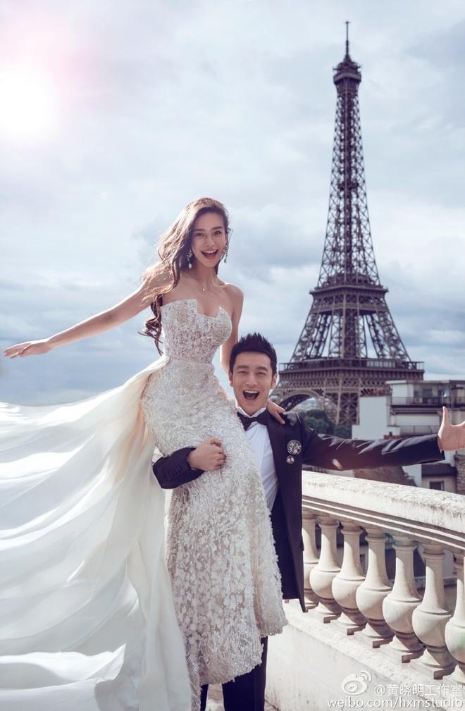 Anh cuoi cua Huynh Hieu Minh va Angelababy tai Paris hinh anh 1