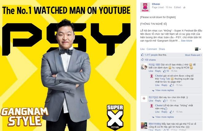 Khong phai iKON ma Psy se sang Viet Nam bieu dien hinh anh 1