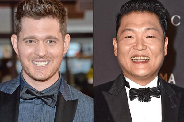 Michael Buble 'vua dam vua xoa' Psy hinh anh