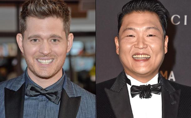 Michael Buble 'vua dam vua xoa' Psy hinh anh 1
