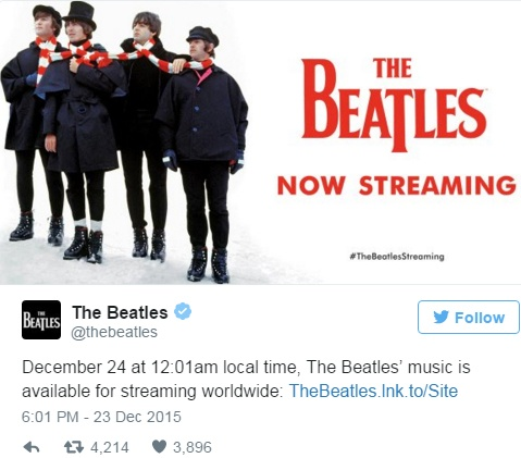 Nhac The Beatles chinh thuc len song online hinh anh 1