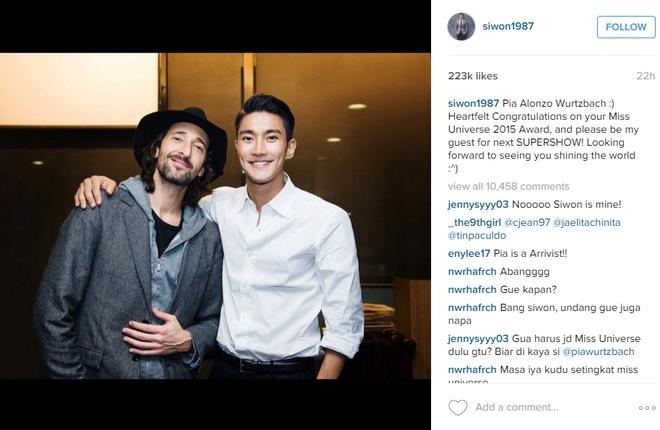Choi Siwon moi tan Hoa hau Hoan vu xem show cua Super Junior hinh anh 1