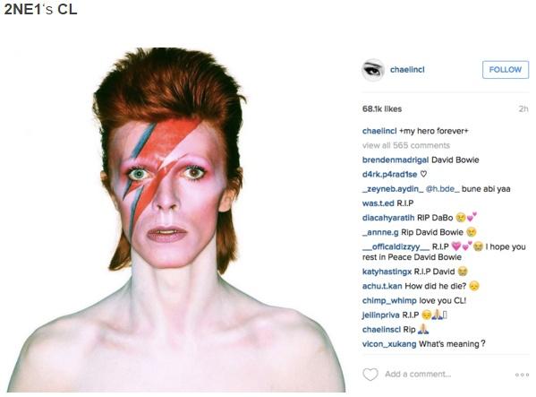 Sao Han dong loat dang anh tuong nho David Bowie hinh anh 3