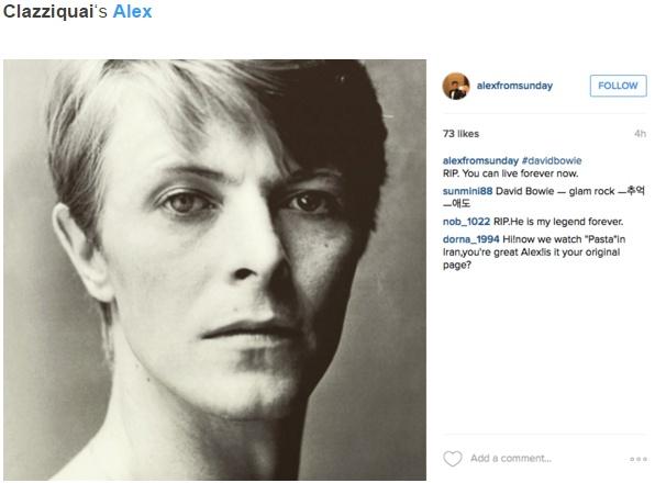 Sao Han dong loat dang anh tuong nho David Bowie hinh anh 7