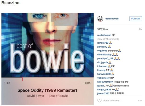 Sao Han dong loat dang anh tuong nho David Bowie hinh anh 8