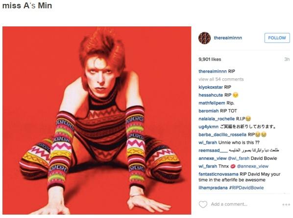 Sao Han dong loat dang anh tuong nho David Bowie hinh anh 5