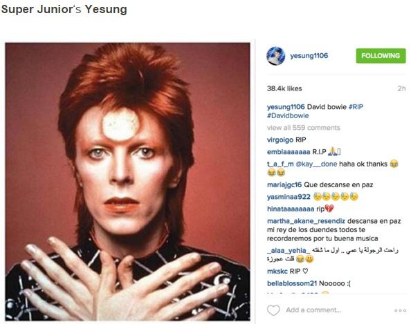 Sao Han dong loat dang anh tuong nho David Bowie hinh anh 4