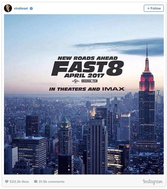 Poster dau tien cua 'Fast & Furious 8' hinh anh 1
