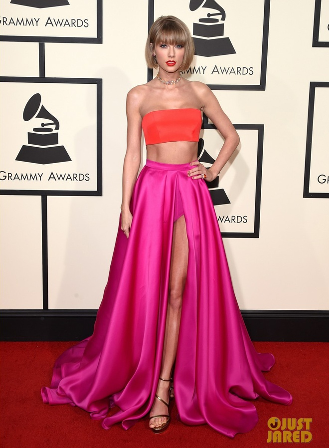 Taylor Swift khoe eo thon tren tham do Grammy 2016 hinh anh 2