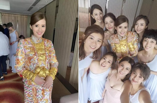 My nhan 'Lan Que Phuong' khoe vong vang day tay trong ngay cuoi hinh anh 1