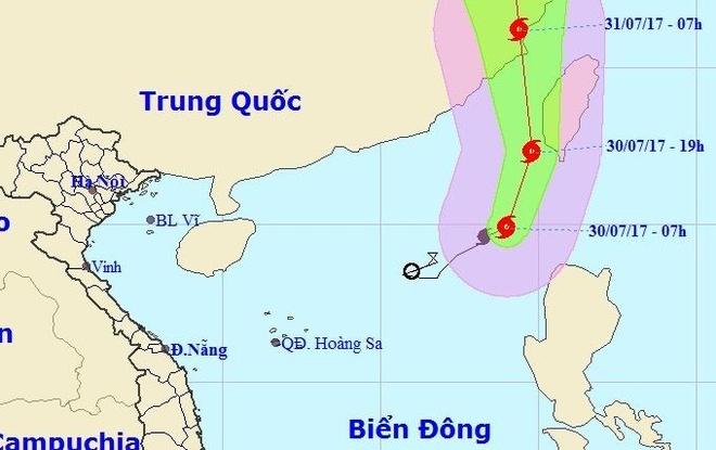 Bao so 5 huong vao Trung Quoc, Bac Bo nang nong gan 38 do C hinh anh