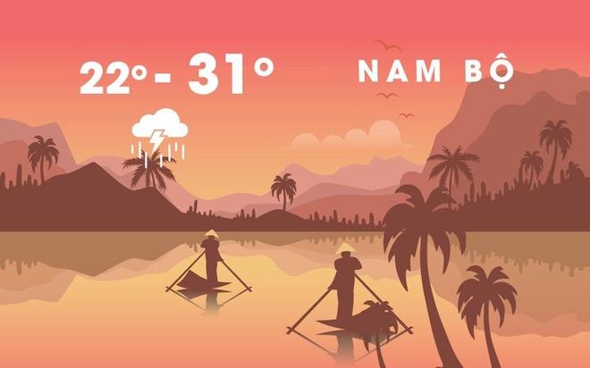 Mua lon va trieu cuong co the lam nuoc dang 4,5 m o ven bien Nam Bo hinh anh