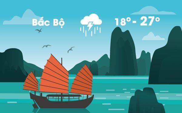 Thoi tiet ngay 23/10: Bac Bo chuyen lanh, dong manh hinh anh