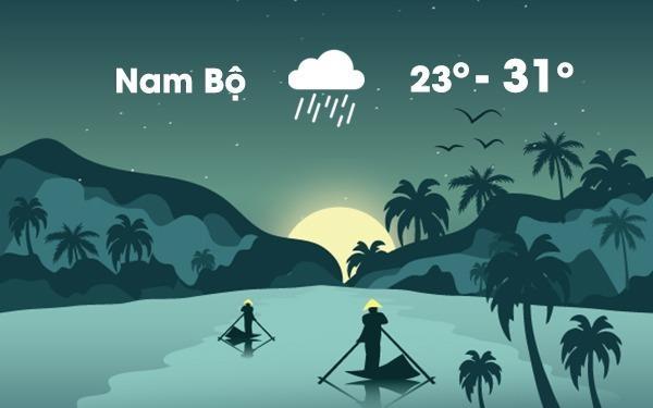 Thoi tiet ngay 18/11: Nam Bo mua lon, dong manh vi bao so 8 hinh anh