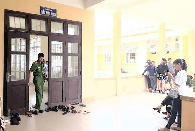 Cong an dieu tra vu thai nhi tu vong tai benh vien o Quang Tri hinh anh